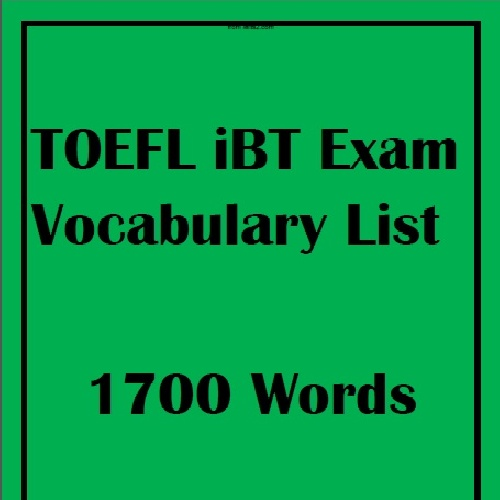 Vocabulary List of Michael Buckhoff's TOEFL iBT
